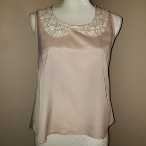 Pinky SZ Small.  Super cute Champagne  Blouse